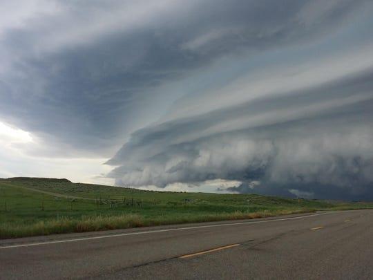 Hail storm No. 2 approaches Ashton Beck.