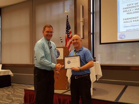 Matt Malone receives Story Map Award