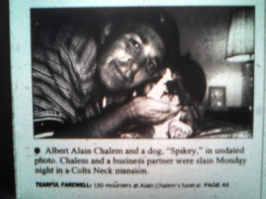 Albert Alain Chalem in an undated photo, with is dog, Spikey.