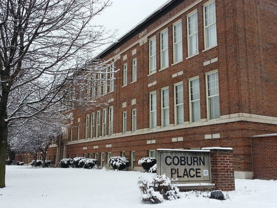 A 100-year-old school building houses Coburn Place.