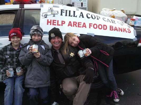Fill a cop car food drive