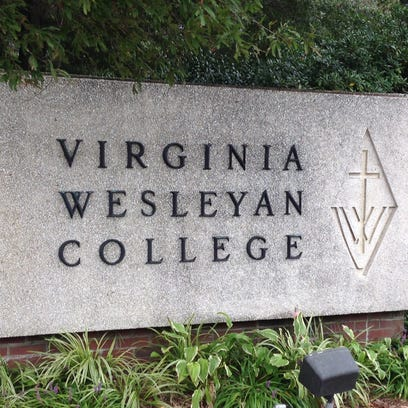 Sign at the entrance to Virginia Wesleyan College