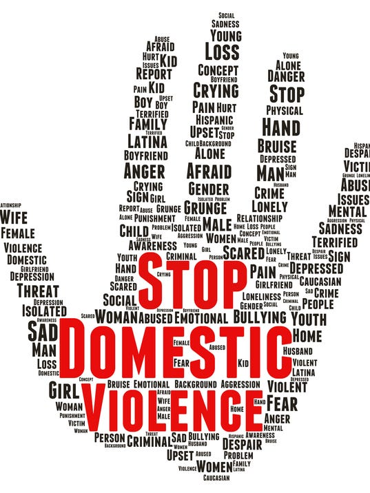 Stop domestic violence word cloud shape