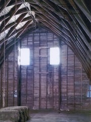 The interior of the third floor of the barn at Farm