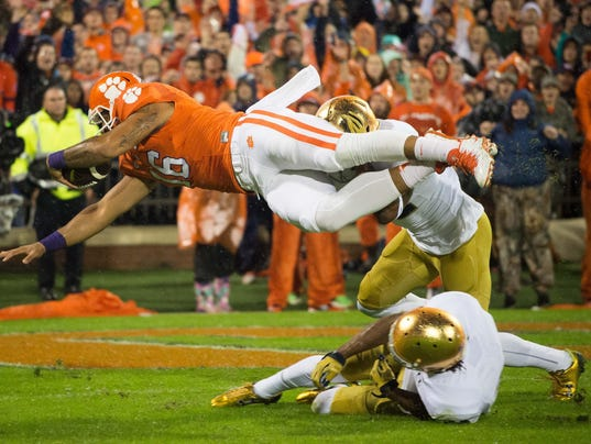 NCAA Football: Notre Dame at Clemson