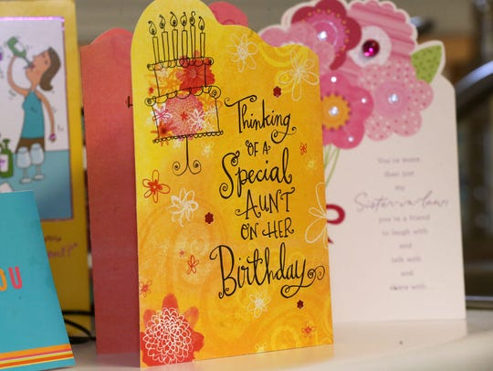 Birthday and Valentine's Day cards are on Betty Lee's