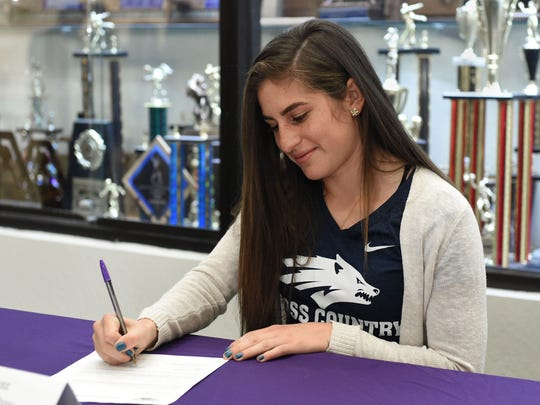 Alexis Melendrez signed with Nevada for cross country and track.