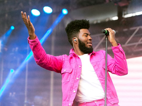 Singer-songwriter Khalid performs to an enthusiastic hometown crowd at the Neon Desert Music Festival 2017 on May 28 in Downtown El Paso.