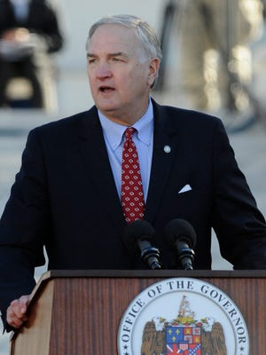Attorney General Luther Strange speaks after being sworn in during the Inauguration of Governor Robert Bentley in Montgomery, Ala. on Monday January 19, 2015.
