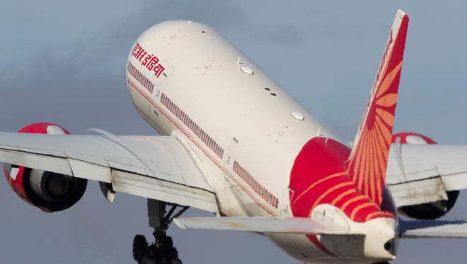 An Air India Boeing 777 lifts off from San Francisco International Airport on Oct. 23, 2016.