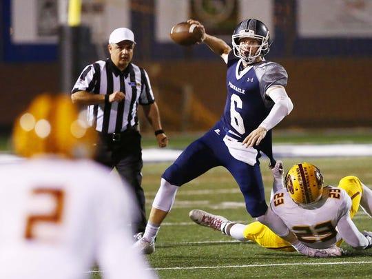 Ex-Phoenix Pinnacle quarterback Brian Lewerke (6) is
