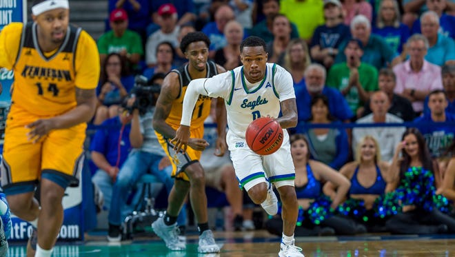 After overcoming a challenging trip and 18-point deficit at Lipscomb on Thursday night, Brandon Goodwin and his FGCU teammates will need to push the pace at Kennesaw  State on Saturday.