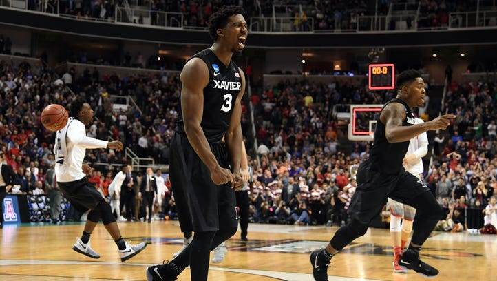Xavier Musketeers guard Quentin Goodin (3) and forward
