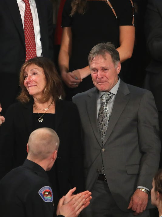President Trump Addresses The Nation In His First State Of The Union Address To Joint Session Parents Of Otto Warmbier