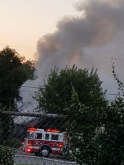 A house fire destroyed a home on Magnolia Avenue in Redding Wednesday morning.