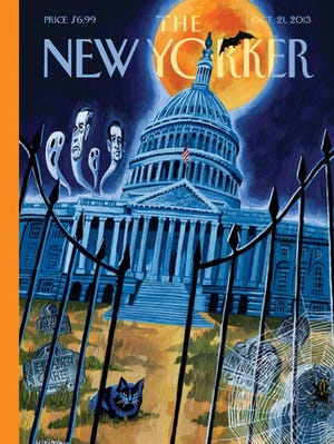 The cover of 'The New Yorker' for Oct. 21, 2013, is about the federal government shutdown.