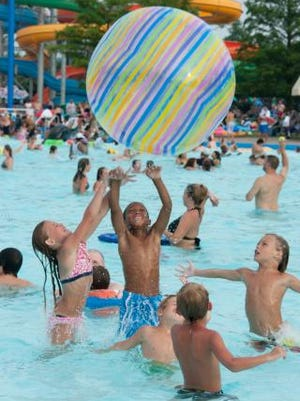 Kids in Sunlight Pool