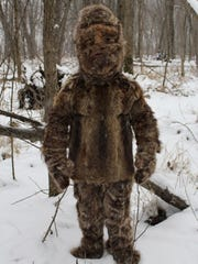Gawain MacGregor in the fur suit he believes McDowell residents mistook for bigfoot.