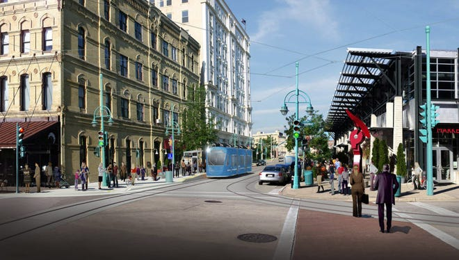 The city of Milwaukee did not receive a $20 million grant for extending the streetcar to the new Bucks arena.