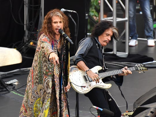 """Steven Tyler and Joe Perry of Aerosmith perform on NBC's """"Today"""" show."""