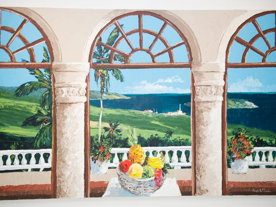 Joseph LaPierre did a series of island arches portraying
