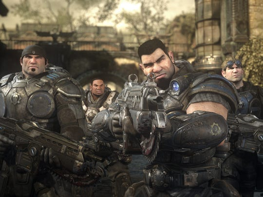 "Delta Squad from ""Gears of War: Ultimate Edition"": Marcus Fenix (from left), Augustus Cole, Dominic Santiago and Damon Baird."