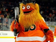 Philadelphia Flyers mascot Gritty taunts PK with a message about fiancée: 'Lindsey could do better'