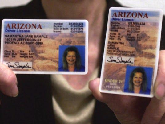 arizona drivers licenses 020801
