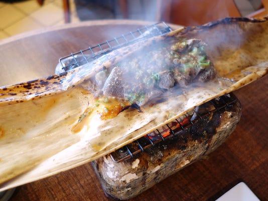 Bamboo Wrapped Beef Tongue at Yasu Sushi Bistro