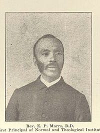 Elijah Marrs, native of Shelbyville, was a runaway slave who enlisted in the Union army and recruited others to join him. After the war he became a minister and helped to establish Sunday Schools at local churches to teach African American children how to read.