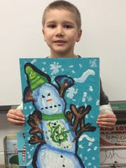 Grayson Goberville is the artist behind this Angry Snowman.