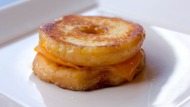 Tom+Chee's grilled cheese doughnut.