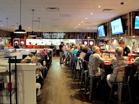 The Crust Pizza's second home is next to LongHorn Steakhouse