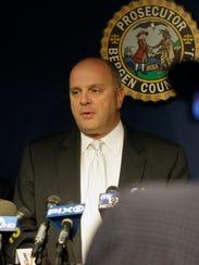 Former Bergen County prosecutor John Molinelli speaks