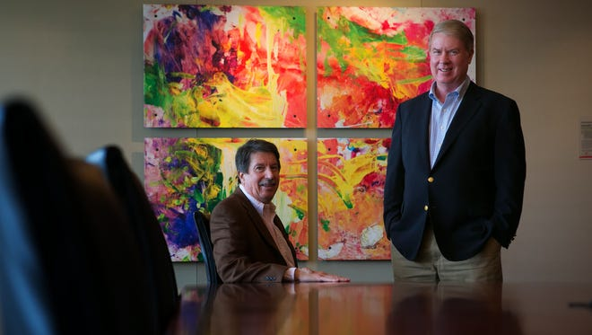 Partners Hank Gallagher, Jr. (left) and Chip Connolly III are shown at their law firm Connolly Gallagher LLP in Wilmington.