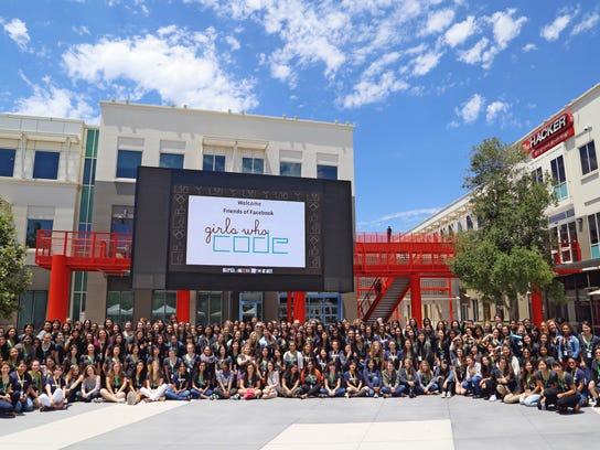 Girls Who Code on Facebook campus