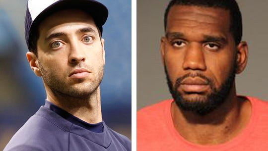 Milwaukee Brewers right fielder Ryan Braun (left) was caught up in the steroid scandal last year, ending up with a 65-game suspension. Greg Oden, former Lawrence North basketball star and first-round NBA draft pick, was arrested earlier this week for battery on his ex-girlfriend.
