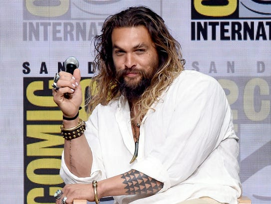 Jason Momoa at Comic-Con International 2017 on July