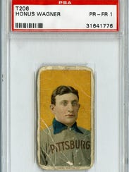 "A T206 Honus Wagner baseball card is part of the ""Play"
