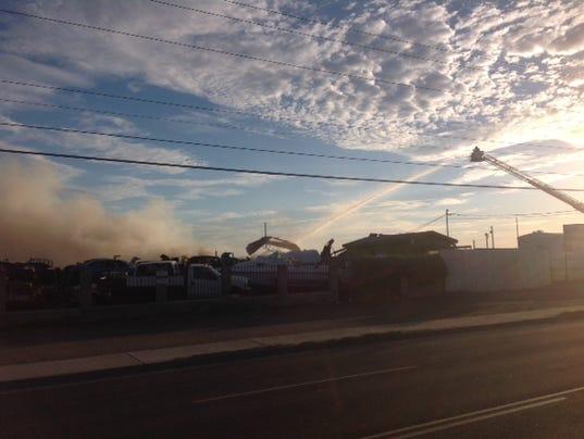Phoenix junkyard fire