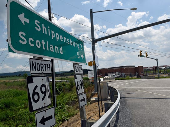 The United Business Park, Shippensburg, entrance is