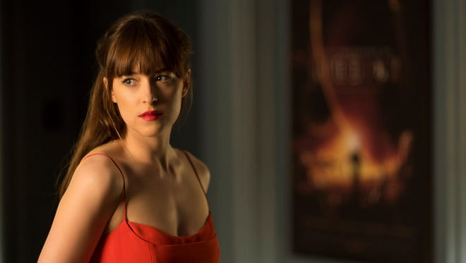 "Paying tribute to her mom ""was my favorite part"" of 'Fifty Shades Darker,' Dakota Johnson says."