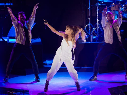 Ariana Grande performs Sept. 7, 2016, in New York.