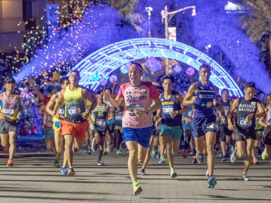 Marathon course runners take off at the starting line in this file photo of the 2018 United Guam Marathon.