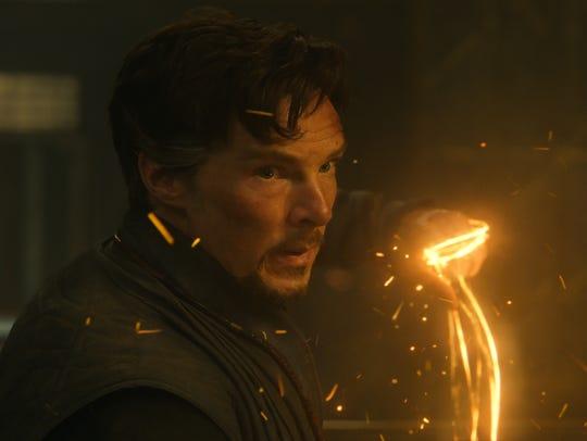 Doctor Strange (Benedict Cumberbatch) uses a variety