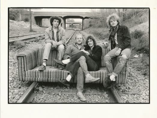 A Replacements promo photo. From left, Chris Mars,