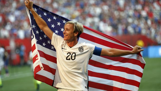 Abby Wambach finally adds a World Cup title to her career résumé in July when the USA defeated Japan 5-2 in the final in Vancouver, Jul 5, 2015. Wambach will be in the Coachella Valley later this month for a conversation with Chelsea Clinton about empowering young woman to be fit and confident.