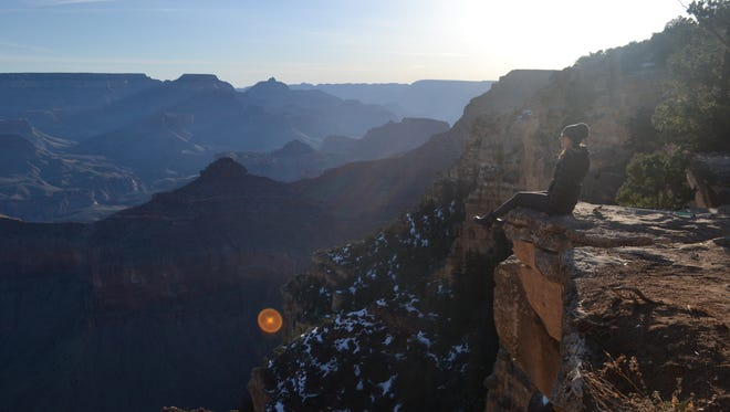 Looking out at the majesty of the Grand Canyon, I was able to set my fear of heights aside, at least enough to enjoy the moment.
