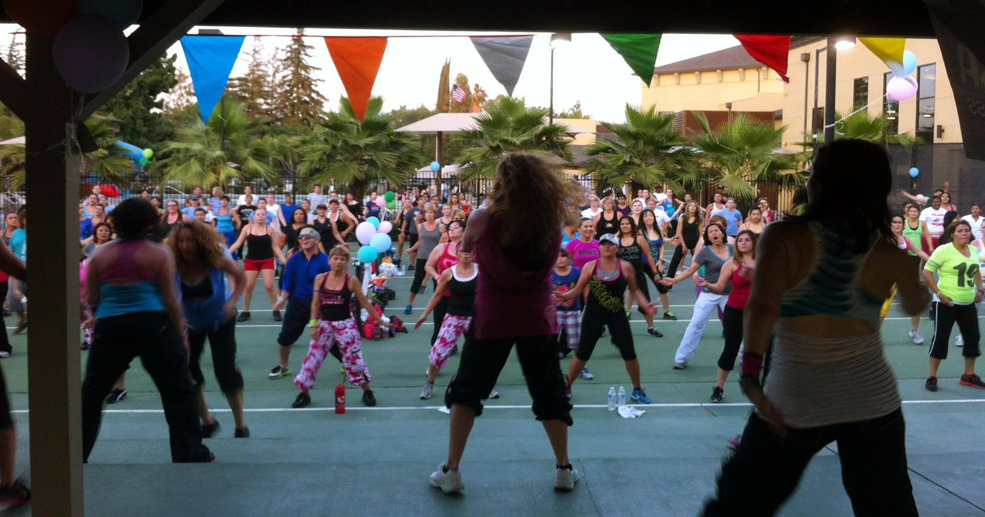 zumba night raises funds for the visalia rescue mission