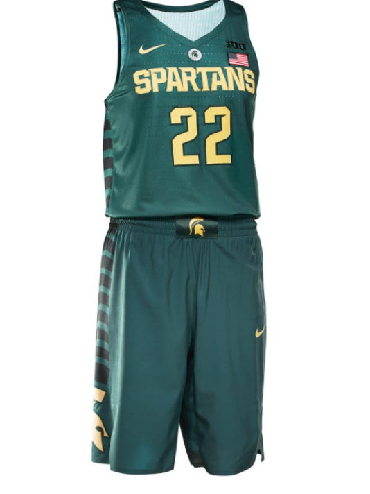 ac6367840bd Nike unveils special tourney uniform for Michigan State